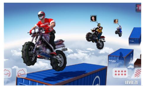 越野摩托屋顶赛