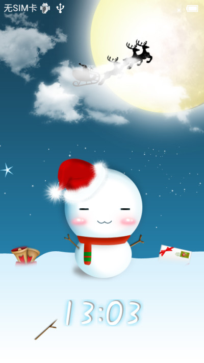 可爱雪人 for 小米主题